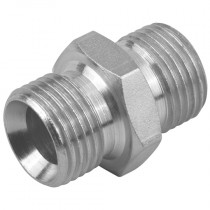 "1/4"" x 1/4"" Equal BSPP Male x BSPP Male 60° Cone, Male/Male Adaptor"
