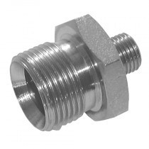 "1/4"" x 3/8"" Unequal BSPP Male x BSPP Male 60° Cone, Male/Male Adaptor"