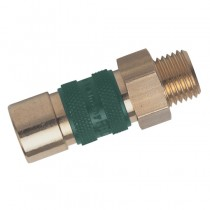 """1/4"""" BSPP Male Thread Red Series 21 'Rectu-Key' Coupling"""