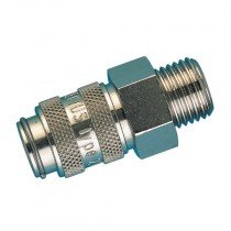 """1/8"""" BSPP Male Thread Series 21KS Safety Lock Coupling"""