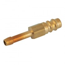 """6mm (1/4"""") Series 65 Safety-Lock Welding Hose Tail Plug for Oxygen"""