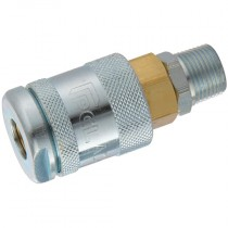 "3/8"" BSPT Male Thread PCL 60 Series Air Line Coupling"