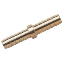 """5/16"""" Brass Nickel Plated Hose Joiner"""