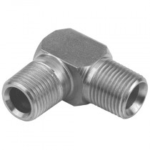 """1/4"""" x 3/8"""" BSPP Male x BSPP Male 90° Compact Elbow 60° Cone"""