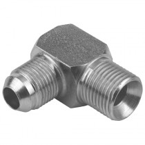 """1/4"""" x 9/16"""" BSPP Male 60° Cone x JIC Male 90° Compact Elbow 37° Cone"""