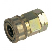 """3/8"""" BSPP Valved H Series Steel Plated Coupling"""