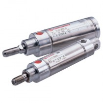 16mm & 25mm Single Acting RT/57100/M, Axial Port - Sprung In Roundline Cylinder