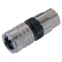 """1/4"""" BSPP T2500 Series Nitrile Coupling with Valve"""