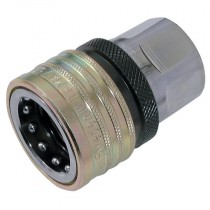 """3/4"""" BSPP T7500 Series, Nitrile Coupling with Valve and Pressure Eliminator"""