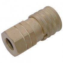 """3/8"""" x 3/8"""" BSPP Body Nitrile TIF3800 Series Coupling with Pressure Eliminator"""
