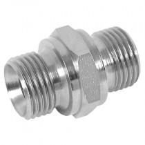 "1/8"" x 1/8"" BSPP Male x BSPP Male 60° Cone DIN 3852 Form A, Male/Male Adaptor"