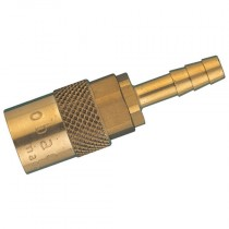 """9mm (3/8"""") Straight Hose Tail Non-Valved Mold Series Coupling"""