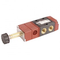 """1/8"""" BSPP - 5/3 Solenoid/Solenoid Spring, Return to Closed Centre 120 Series Solenoid Valve, Manifold Mountable & Single Use"""