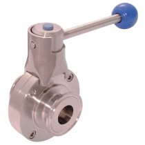 """4"""" Clamp Type Hygienic Butterfly Valve"""