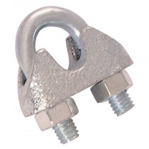 10mm Wire Rope Grips, Electro Galvanised, Chain & Rope Accesories