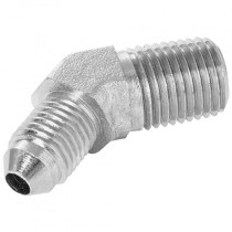 """1/4"""" x 7/16"""" NPT Male x JIC Male 45° Forged Compact Elbow 37° Cone"""