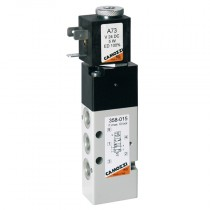 """1/8"""" 5/2 Manual Override Series 3, Electro Pneumatically Operated Single Solenoid Valve, Valve Only"""