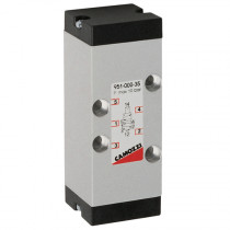 Size 1, 5/2 Pneumatic Mechanical Spring Return, Series 9 Electro Pneumatically Operated Double Solenoid Valve