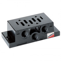 ISO 2 Single Sub-Base with Side Outlets for Series 9 Electro Pneumatically Operated Double Solenoid Valve