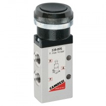 """1/8"""" 3/2 Push Button Red Series 3, 4 & VMS Mechanically Operated Console Mini Valve"""