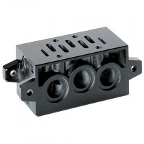 ISO 1 Manifold Sub-Base with Common Exhaust & Inlets for Series 9 Electro Pneumatically Operated Double Solenoid Valve