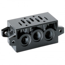 ISO 2 Manifold Sub-Base with Common Exhaust & Inlets for Series 9 Electro Pneumatically Operated Double Solenoid Valve