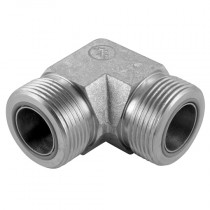 """1.7/16"""" Male x Male 90 Forged Compact Elbow ORFS Adaptor"""