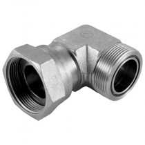 """1.11/16"""" Male x Swivel Female 90° Forged Compact Elbow ORFS Adaptor"""