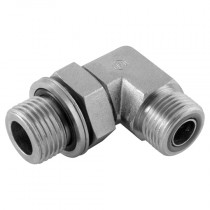 """1"""" x 1/2"""" Male x BSPP Male 90° Positional Forged Elbow with O-Ring, ORFS Adaptor"""