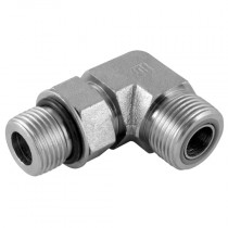"""1.7/16"""" x 1.5/16"""" Male x UNF Male 90° Positional Forged Elbow with O-Ring, ORFS Adaptor"""