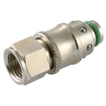 """1/2"""" BSPP DN12 Series, 422 Straight Female Socket, Quick Coupling for Plastic Injection Moulding"""