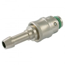 16mm DN12 Series, 425 Straight Female Socket with Hose Tail, Quick Coupling for Plastic Injection Moulding