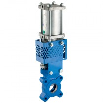 100mm Cast Iron Body, Double Acting, Unidirectional Knife Gate Valve