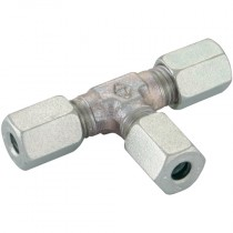15mm Light Duty, Equal Tees, Tube to Tube Coupling