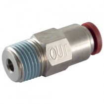 """8mm x 1/4"""" BSPT Conical Auxiliary Check Out Valve"""