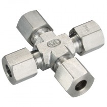 10mm Equal Cross, L Series, Tube Fitting