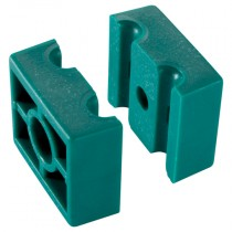8mm - Group 1, Double Polypropylene Inside Smooth Clamp Halves, Series B