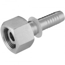"""8L x 1/4"""" Female, 24° Cone Seat with O-Ring, DIN 2353 Hose Fitting"""