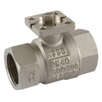 """1.1/2"""" BSPP Female ISO 5211 Pad, WRAS Approved Ball Valve"""