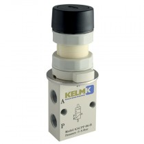 """1/8"""" BSPP Green Push Button (Shrouded) Manual 3/2 Way Valves"""