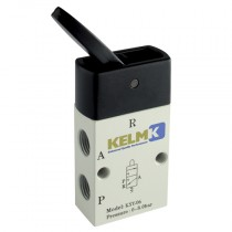 """1/8"""" BSPP Lever/Lever Manual 3/2 Way Valves"""