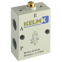 """1/8"""" BSPP Plunger Manual 3/2 Way Valves"""