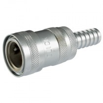 """1/2"""" ID Hose Tail with Valve for Click System"""