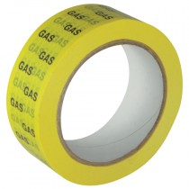 38mm Yellow/Black, Gas ID Pipe Tape - 66m