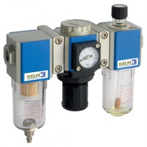 """1/8"""" BSPP Semi-Auto Drains, supplied with Mounting Bracket & 10 bar Gauge 200 Series Filter + Regulator + Lubricator Combination Units"""