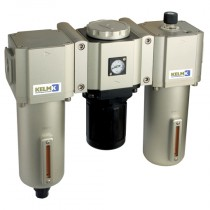 """1"""" BSPP Semi-Auto Drains, supplied with Mounting Bracket & 10 bar Gauge 600 Series Filter + Regulator + Lubricator Combination Units"""