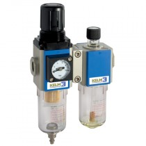 """1/4"""" BSPP Semi-Auto Drains, supplied with Mounting Bracket & 10 bar Gauge 200 Series Filter/Regulator + Lubricator Combination Units"""