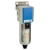 """1/4"""" BSPP 300 Series Filter Semi-Auto Drain, supplied with Mounting Bracket"""