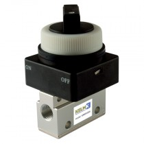 """1/8"""" BSPP 2 Position Selector Switch Panel Mount Valve, Manual & Mechanical 3/2 Way Valve"""