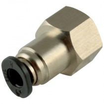 """1/4"""" x 1/16"""" NPT Micro One Touch Plastic Push-In Female Stud"""